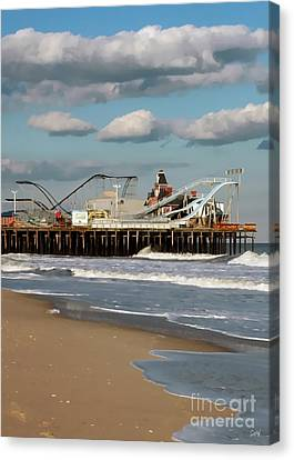 Seaside Heights Roller Coaster 2 Canvas Print by Sami Martin
