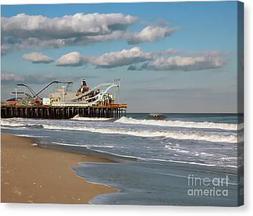 Seaside Heights Roller Coaster Canvas Print by Sami Martin