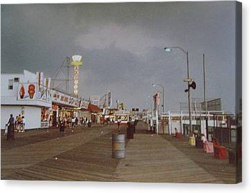 Seaside Heights Storm Canvas Print by Joann Renner