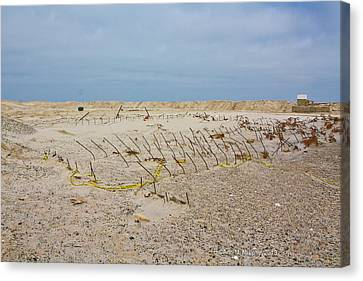 Canvas Print featuring the photograph Seaside Heights...beyond The Dunes. After Hurricane Sandy by Ann Murphy