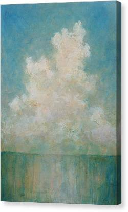 Canvas Print featuring the painting Seaside by Pam Talley