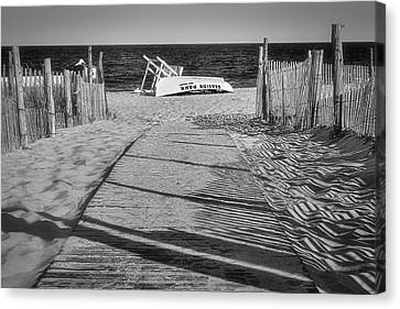Seaside Park New Jersey Shore Bw Canvas Print by Susan Candelario