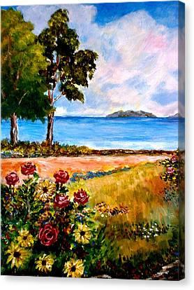 Seaside Pathway Canvas Print