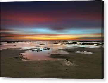 Seaside Reef Sunset 14 Canvas Print by Larry Marshall