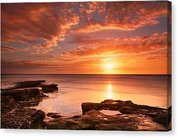 Seaside Reef Sunset 15 Canvas Print by Larry Marshall