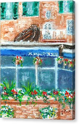 Seaside Restaurant Canvas Print
