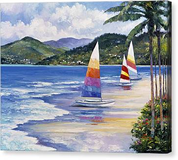 Seaside Sails Canvas Print by John Zaccheo