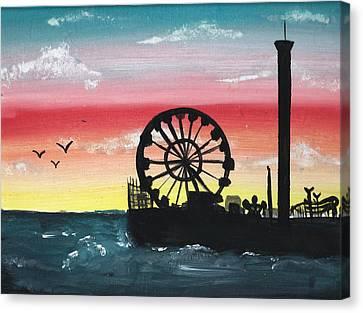 Seaside Heights Canvas Print - Seaside Sunset by Amanda Smentkowski