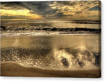 Canvas Print featuring the photograph Seaside Sunset by Julis Simo