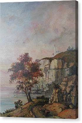 Canvas Print featuring the painting Seaside by Tigran Ghulyan