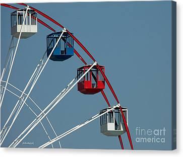 Seaside's Ferris Wheel Canvas Print by Sami Martin