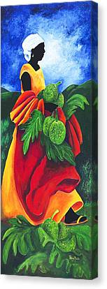 Season Breadfruit Canvas Print by Patricia Brintle