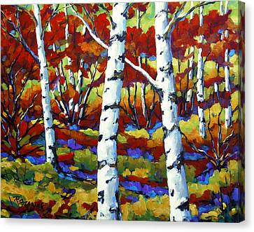 Season Of Fire By Prankearts Canvas Print by Richard T Pranke