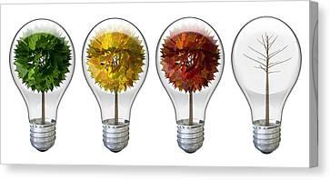 Seasoned Light Bulbs Canvas Print by Allan Swart