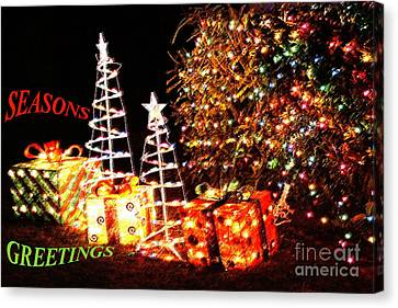 Canvas Print featuring the photograph Seasons Greetings Card by Gary Brandes