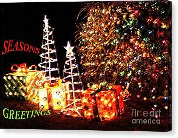 Seasons Greetings Card Canvas Print by Gary Brandes