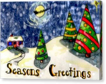 Seasons Greetings Canvas Print by Jame Hayes