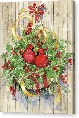 Seasons Greetings Canvas Print by Kathleen Parr Mckenna