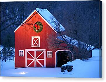 Seasons Greetings Canvas Print by Thomas Schoeller
