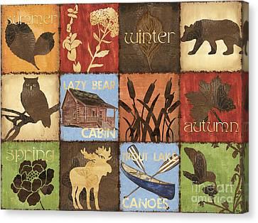 Seasons Lodge Canvas Print