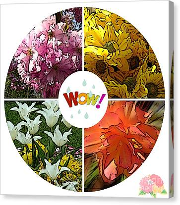 Seasons Of Flowers Canvas Print