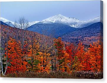 Seasons' Shift #2 - Mount Washington - White Mountains Canvas Print by Nikolyn McDonald