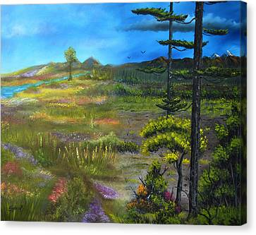 Seasons-summer/autumn Canvas Print