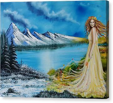 Seasons-winter/spring Canvas Print