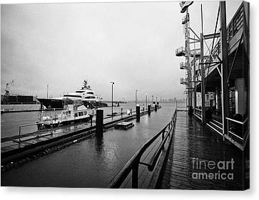 seaspan marine tugboat dock city of north Vancouver BC Canada Canvas Print by Joe Fox