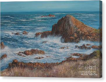 Seaspray Canvas Print by Valerie Travers