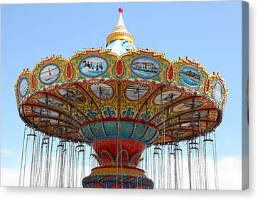 Roller Coaster Canvas Print - Seaswings At Santa Cruz California 5d23888 by Wingsdomain Art and Photography