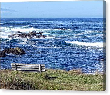 Canvas Print featuring the photograph Seat With A View by Kathy Churchman