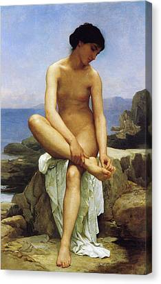 Seated Bather Canvas Print by William Bouguereau