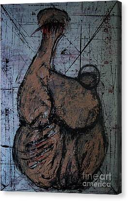 Seated Figure Canvas Print by Filip D Jensen