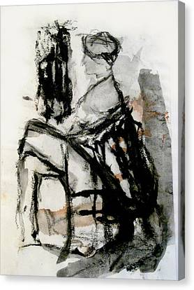Seated Figure Canvas Print by James Gallagher