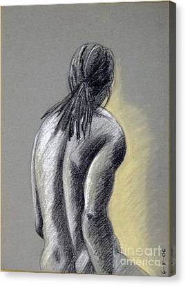 Seated Male Canvas Print