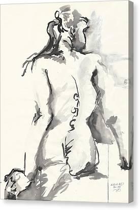 Seated Nude Canvas Print