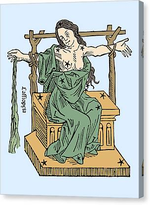 Seated Queen Of Cassiopeia Constellation Canvas Print