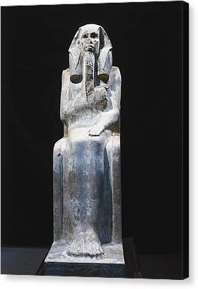 Seated Statue Of King Djoser. 2611 Bc Canvas Print by Everett