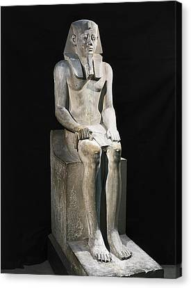 Seated Statue Of Sesostris I. 1971 Canvas Print by Everett
