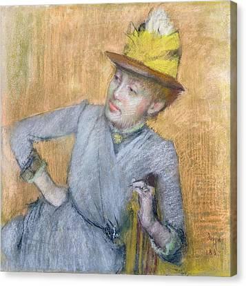 Half-length Canvas Print - Seated Woman by Edgar Degas
