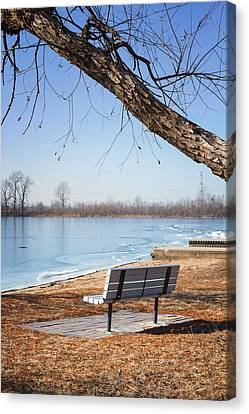 Seating Bench Canvas Print