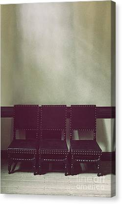 Seating For Three Canvas Print by Margie Hurwich