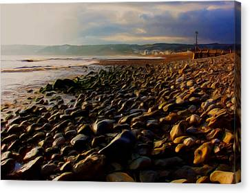 Canvas Print featuring the digital art Seaton by Ron Harpham