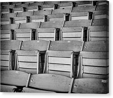 Empty Chairs Canvas Print - seats 5810BW by Rudy Umans