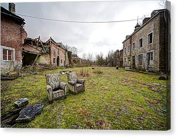 seats for two Abandoned places Canvas Print by Dirk Ercken