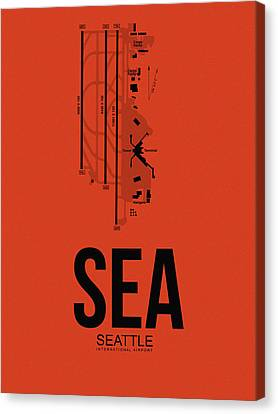 Seattle Airport Poster 2 Canvas Print by Naxart Studio