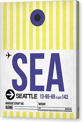 Seattle Airport Poster 3 Canvas Print by Naxart Studio