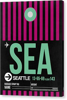 Seattle Airport Poster 4 Canvas Print by Naxart Studio