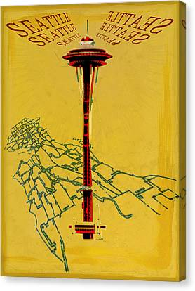 Seattle Calling Canvas Print by Sandstone Inc